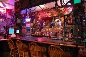 The bar at Elwood's
