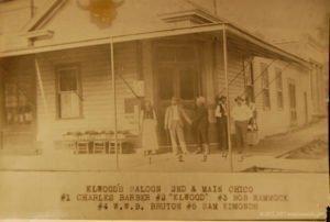 Fake Elwood's Saloon. (1880). Chico, CA